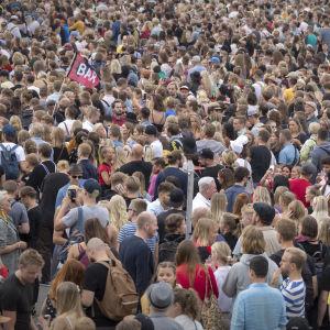Publikhav på flowfestivalen 2018.
