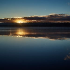 Auringonnousu Finnmarkissa.
