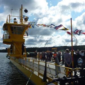 Kivimofärjan invigdes 31.8.2011