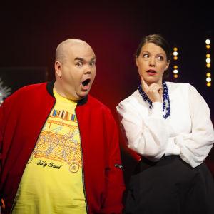 Johan Lindroos och Eva Frantz.
