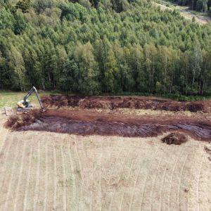 En våtmark byggs i Ingå.