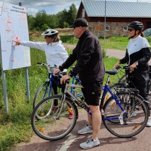 Cyklister på Åland.