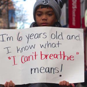 Demonstration mot polisvåld i New York