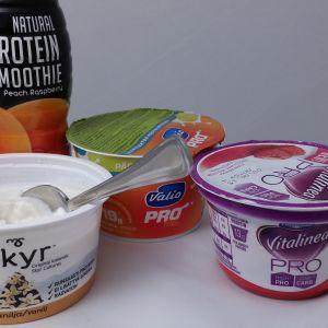 proteiinirahkoja ja proteiinijuoma, sisältävät makeutusaine sukraloosia (5/2015)