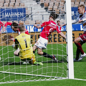 Jaros målvakt  Jesse Öst höll nollan mot HIFK.