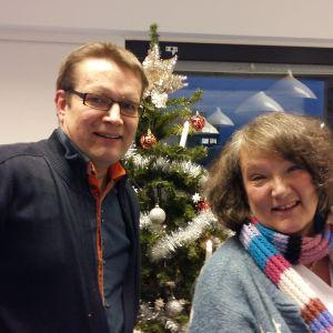 Jan-Erik Andelin och Monika Fagerholm diskuterar det gångna året 2015