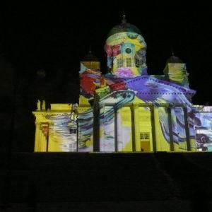 projektion på domkyrkan