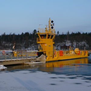 Den nya Kivimofärjan vintern 2012