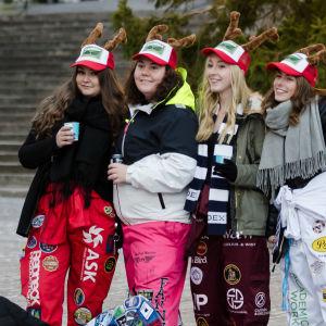 Vimmelbild från Glöggrundan i Åbo.
