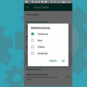 Kuvien automaattisen latauksen esto Android