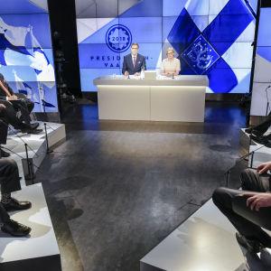 Presidenttiehdokkaat suuressa vaalikeskustelussa 25.01.2018