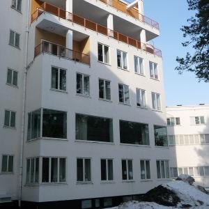 Fasaden på sanatoriet i Pemar.