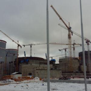 Så här såg kärnkraftsbygget i ryska Sosnovyj bor ut i december 2016.