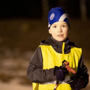 Manu Konsti Lappeen Riennon hiihtokoulussa.