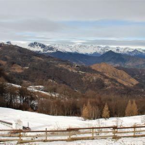 Vy över Alperna.