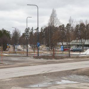 Rautjärven keskustaa.