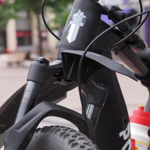 Poliisin merkki polkupyörässä