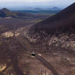 Kamtchatka volcano valley