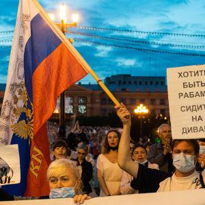 Daily demonstration in Khabarovsk