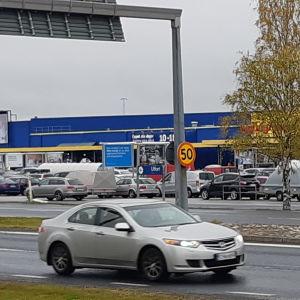 Ikean parkkipaikalla oli syyskuun rajavalvontavapaana viikonloppuna ruuhkaa