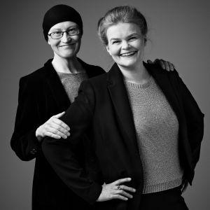 Toimittajat Johanna Grönqvist ja Silja Sahlgren-Fodstad