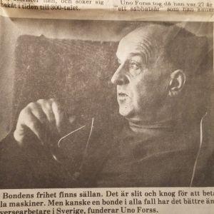Bild av Uno Forss i Vasabladet 1979.