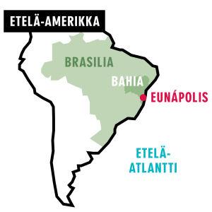 Kartta: Etelä-Amerikka