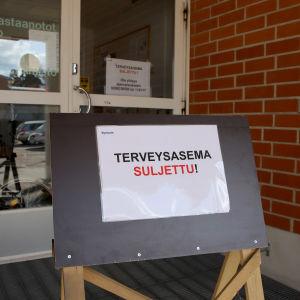 Miehikkälän terveyskeskus suljettu