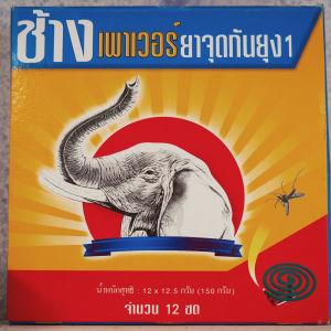 Hyttyskarkoite, jossa päällä norsun kuva.