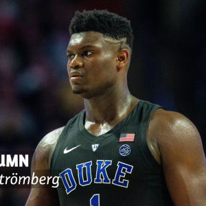 Basketbollspelaren Zion Williamson.