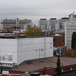 Kouvolan keskustan kattoja