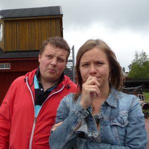 Michael Björklund och Sonja Kailassaari