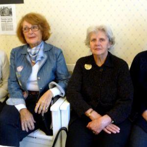 Beatrice Tiihonen, Britt Hagström, Rea Sten och Eva Svarvar