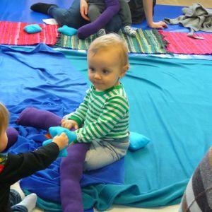 Färgbad för babyn vid Kuntsis museum i Vasa