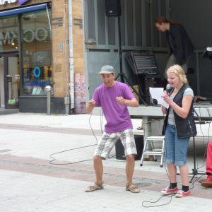 Rapartister på gågatan