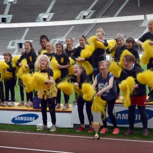 Nordsjö lågstadie vann årets hejarklackstävling.