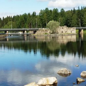 Kajaneborgs slottsruiner i Kajana.