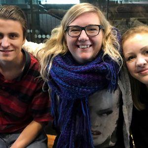 Suomalaiskilpailijat Leonardo Chiodo, Sirja Nironen ja Senja Rummukainen.