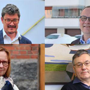Rurik Ahlberg, Tomas Häyry, Kristina Stenman och Hans-Erik Lindqvist