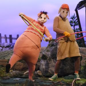 Bärtil och Isa Gris använder hularingar för att rösta.