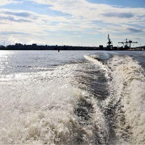 Laivoja Oulun satamassa.