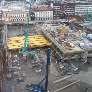 Turun kauppatorin työmaa 11.3.2020