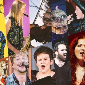 Kollaasi Ylen Festariheinäkuun 2020 artisteista.
