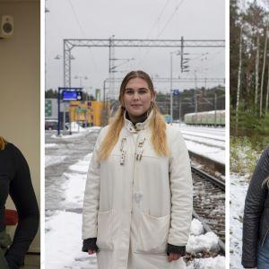 Varpu Niskanen, Jonna Kyllönen ja Johanna Wirkkula
