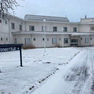 Länsi-Pohjan keskussairaalan synnytysosaston rakennus.