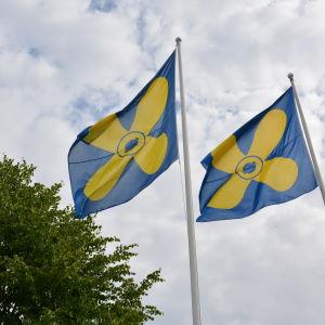Kimitoöns kommunflagga.