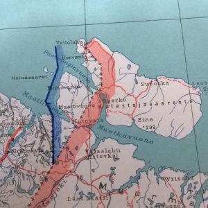 Maanmittauslaitoksen kartta, jossa näkyy Kalastajasaarento.