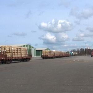 Godståg i Kaskö