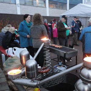 De bostadslösas natt firades i Karis