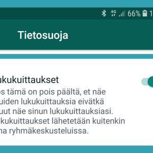 Kuvakaappaus WhatsAppista: Lukukuittaukset piiloon Androidissa.